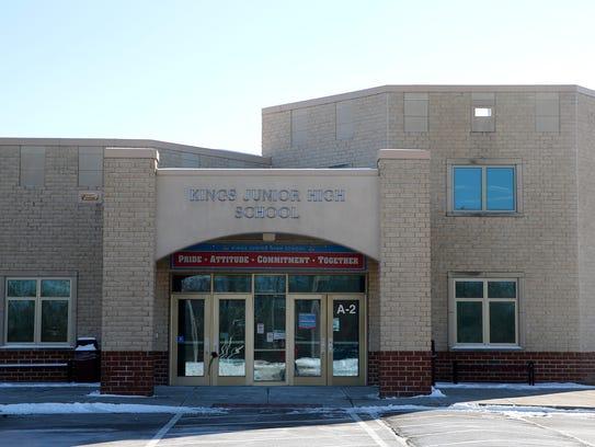 Kings Junior High School. Photo shot Thursday January