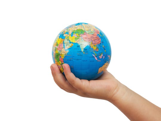 Globe in the hand