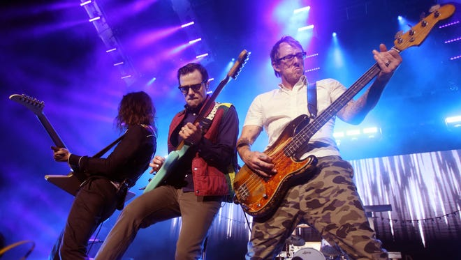 Weezer performs at Ascend Amphitheater Wednesday July 13, 2016.