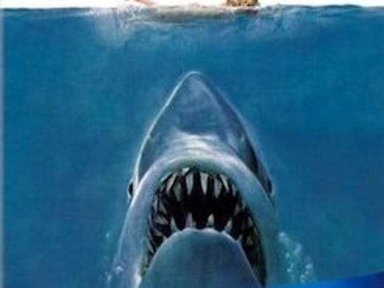 "The classic blockbuster ""JAWS""  can be seen outside this summer."