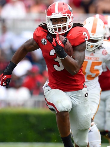A torn ACL limited Georgia RB Todd Gurley to six  games