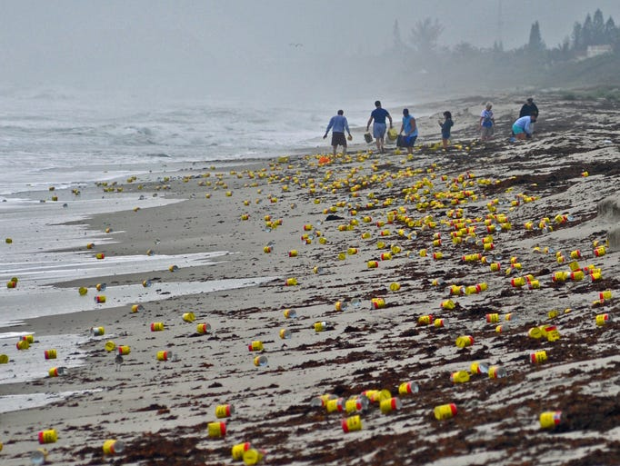 Coffee Washes Up On Florida Beach