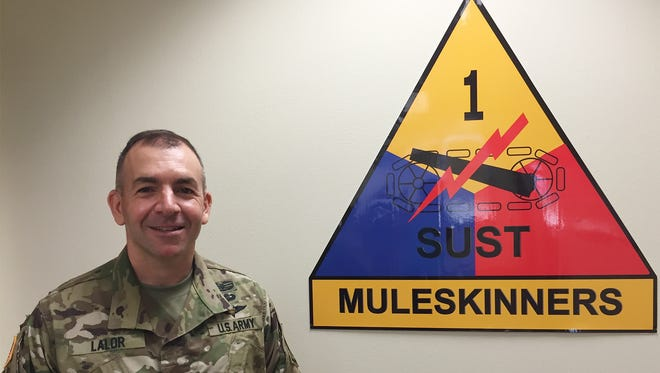 Col. Michael Lalor took command of the 1st Armored Division Sustainment Brigade on June 23.
