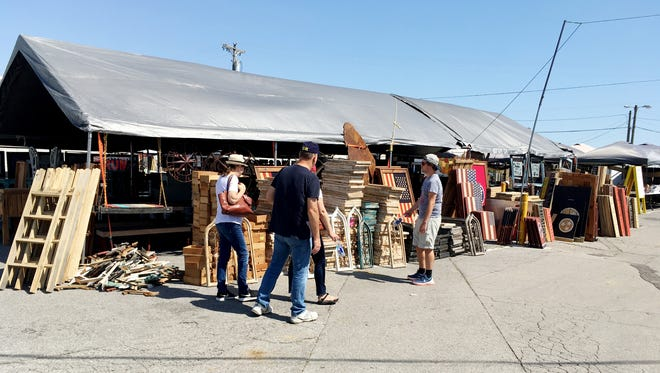 Shoppers have lots of choices at the Nashville Flea Market.