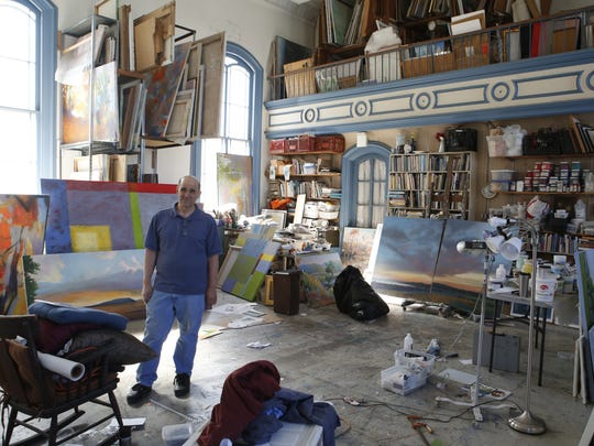 Larry D'Amico took over a former church on South Street in Peekskill in 1991 and converted it into a studio for him and his wife.  He recently converted the basement into three additional spaces for artists.