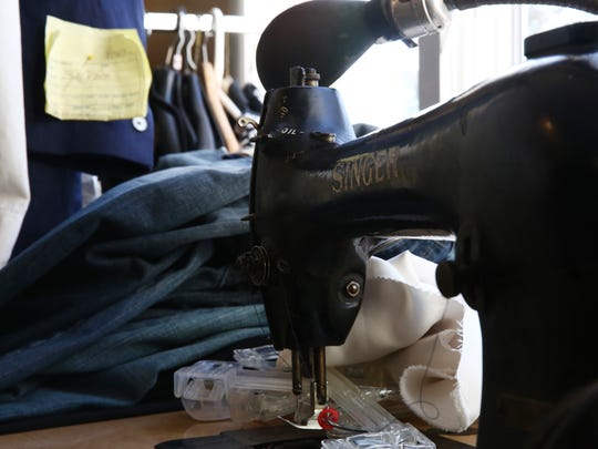 A sewing machine at Mario's Tailor Shop in the Town