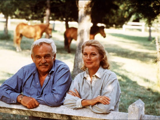 Prince Rainier III and Princess Grace in the summer