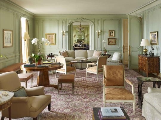 "Thomas Jayne decorated this New York City apartment, which is in a building developed by the Rockefellers in the 1930s. It's featured in Jayne's book, ""American Decoration."""