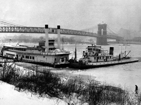 Jan. 19, 1977: The tugboat Clare Beatty has been positioned