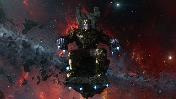 Josh Brolin's first Marvel character, Thanos, first