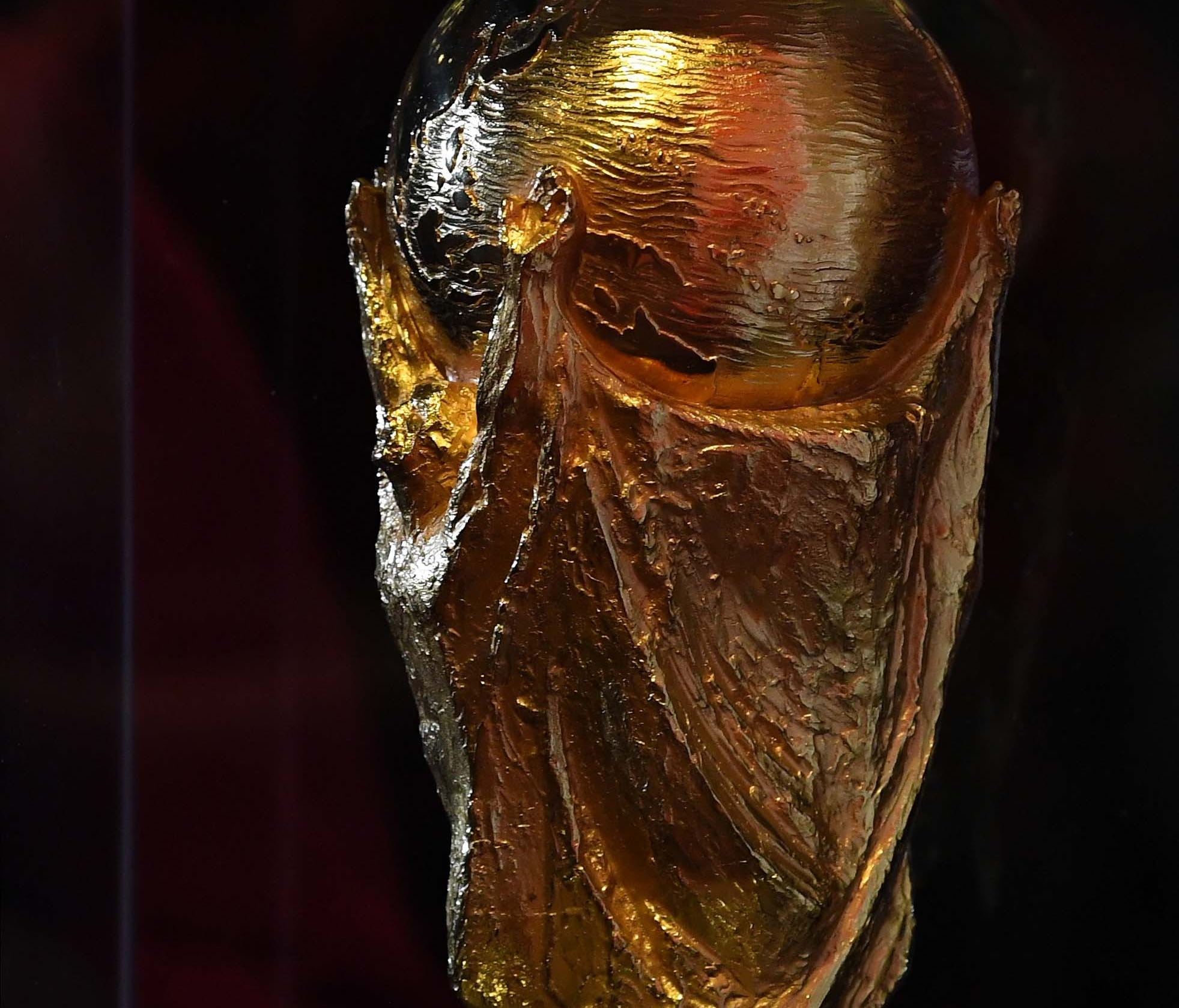 The FIFA World Cup Trophy on display in New York in April.