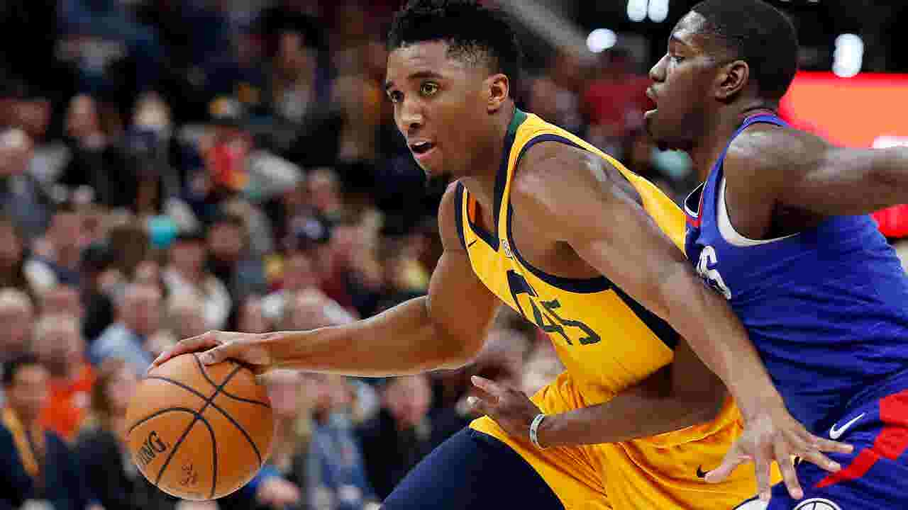 buy online c20b2 ce2f7 Dunk contest winner Donovan Mitchell discusses his meteoric rise