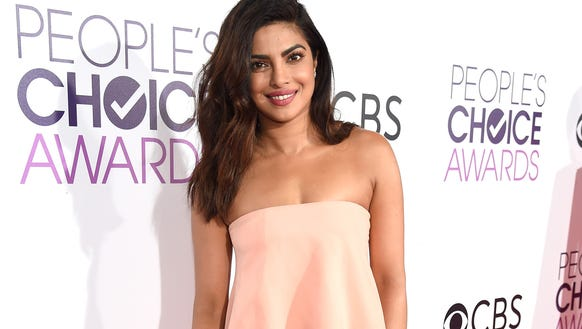 Priyanka Chopra on the People's Choice red carpet.