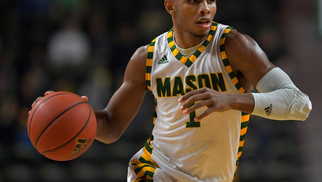 Justin Kier is averaging 10.6 points per game for George Mason this season.