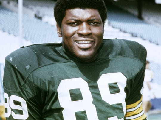 Green Bay Packers linebacker Dave Robinson is pictured