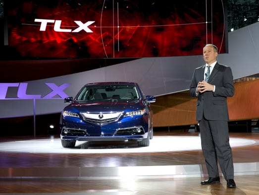 Mike Accavitti, senior vice president and general manager of Acura introduces the 2015 TLX