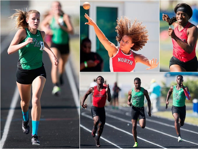 Scenes from the District 3A-11 track and field meet