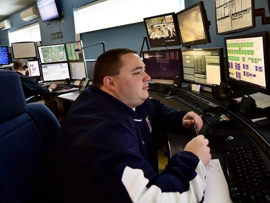 Darien Baer works in the Franklin County Emergency