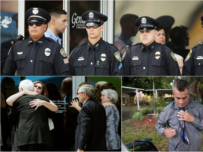 Viewing services were held for fallen Fort Myers police