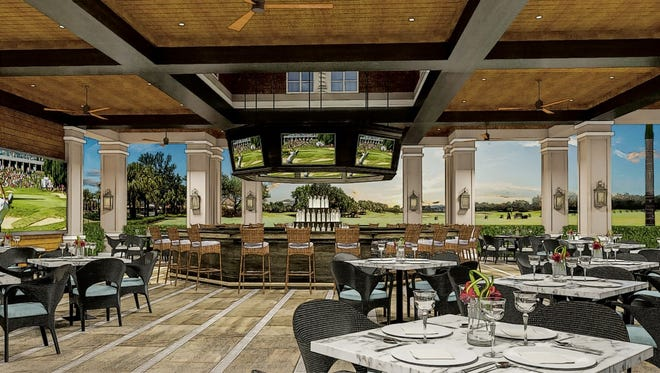 Shadow Wood County Club's planned $5.2 million casual outdoor dining venue.