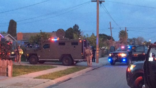 The U.S. Marshals used an armored Bearcat vehicle at