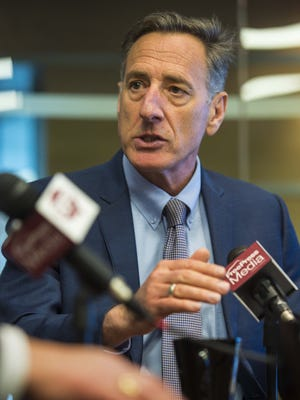Gov. Peter Shumlin speaks with the Burlington Free Press on Friday, January 8, 2016.