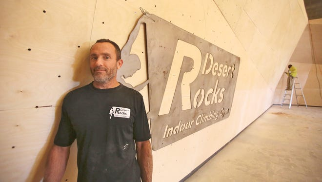 Steve Schechtman the owner of Desert Rocks Indoor Climbing Gym on April 23, 2015 in North Palm Springs.
