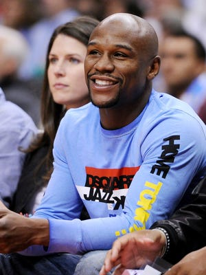 Boxer Floyd Mayweather Jr. is a regular at Clippers games, including this one in November.