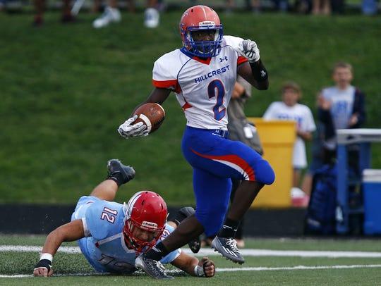 Hillcrest High School  wide receiver Josh Powell (2)