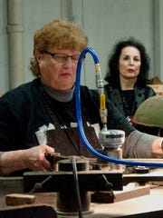 Mardell Doubek, a former Hamilton Manufacturing Co. type cutter, recently had a new font design named after her.