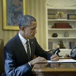 President Obama signs another executive order.