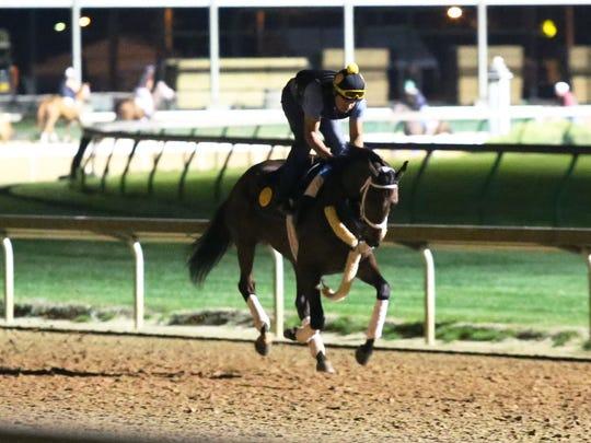 Farrell gallops on April 11 at Churchill Downs.