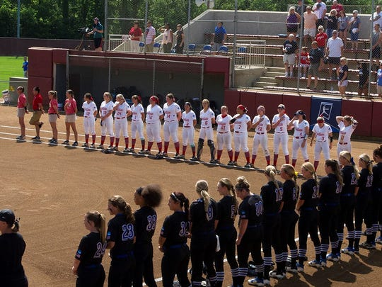 The University of Southern Indiana softball team defeated top-ranked North Georgia 1-0 Thursday to start the Division II National Championship.