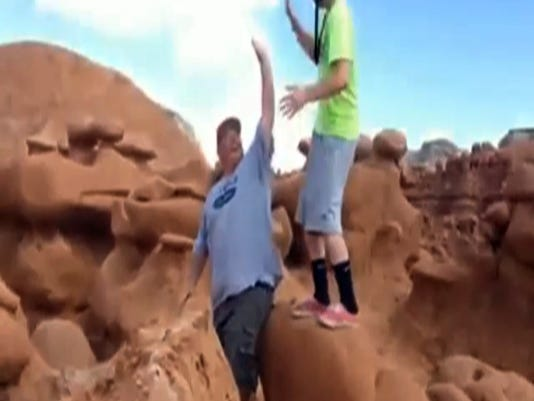 Ancient Rock Toppled