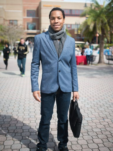 Students sport their most elegant winter wear with