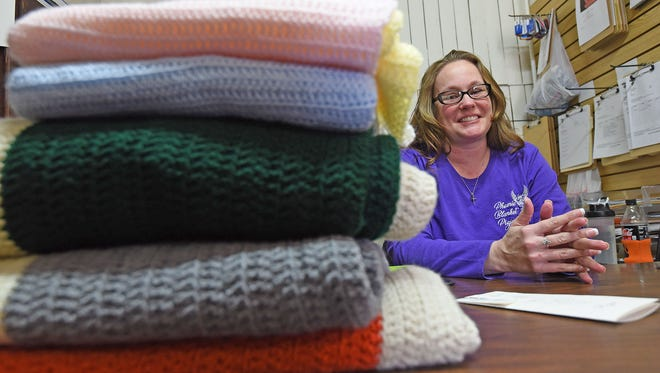 Dawn Frayer started crocheting and donating blankets to The Domestic Violence Shelter for other survivors and their children.