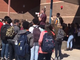 North Canyon High School students staging a class walkout