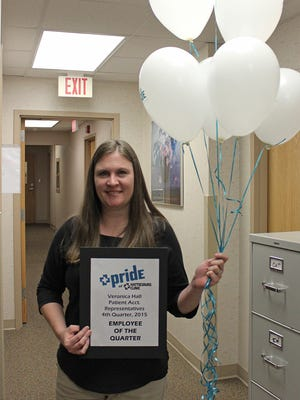 Veronica Hall recently was named Hattiesburg Clinic Employee of the Quarter.