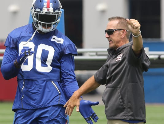 The New York Giants first day of training camp.