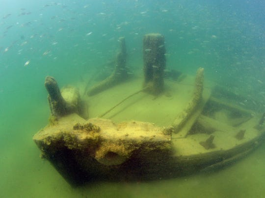 The La Salle shipwreck just off the shore of Point Beach State Forest was recently uncovered.