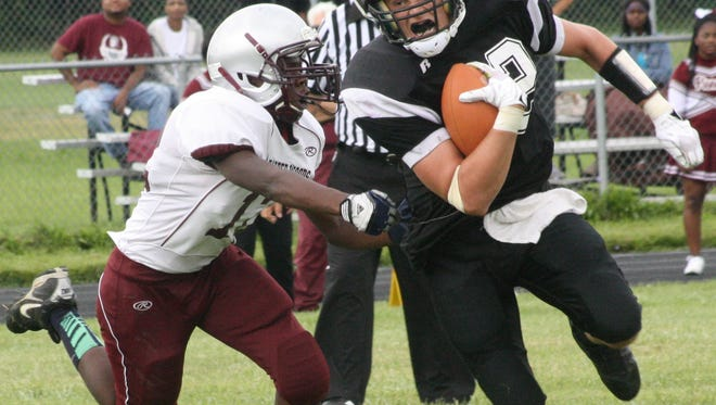 Lutheran Westland running back Jacob Davenport ran for 214 yards and four touchdowns Saturday against Oakland Christian.