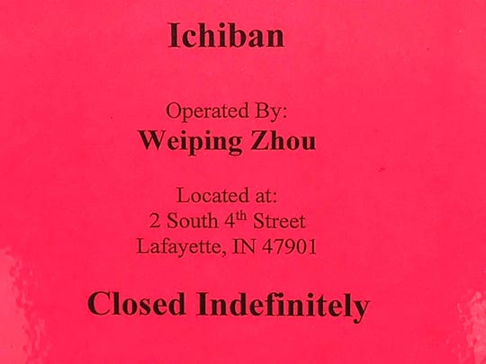 County Health Officer Dr. Jeremy Adler revoked Ichiban's food permit after a hearing Wednesday morning.