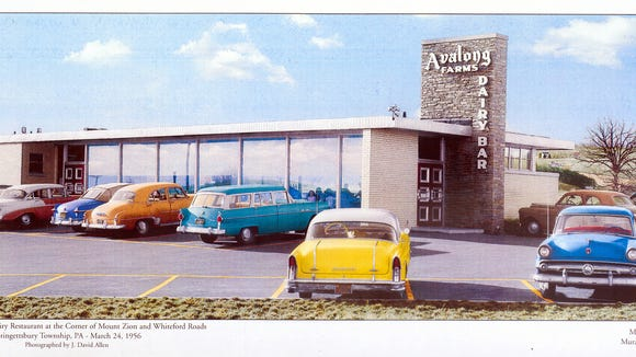 This mural depicting Avalong Dairy Bar was seen in 2011 at what was formerly Metro Bank (now First National Bank).