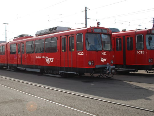These retired light rail cars were used by the city