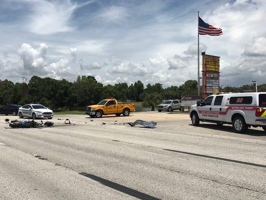 A fatal vehicle crash on U.S. 41 closed the road way