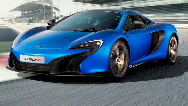 McLaren released photos of its new 650S supercar