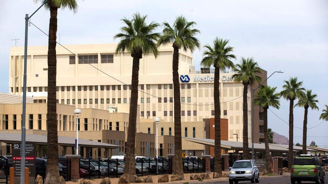 The exterior of the Carl T. Hayden Veterans Affairs VA Medical Center in Phoenix.