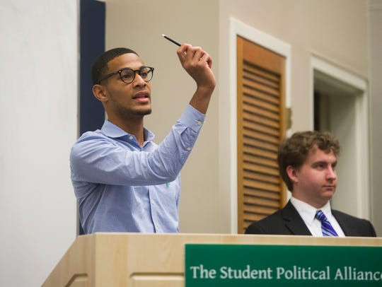 Mustafa Ali-Smith, president of the Student Political