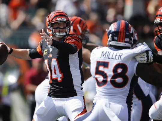 Bengals quarterback Andy Dalton will have to be aware