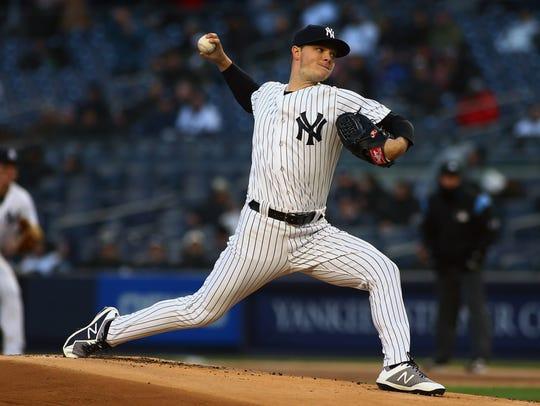 Apr 20, 2018; Bronx, NY, USA; New York Yankees starting